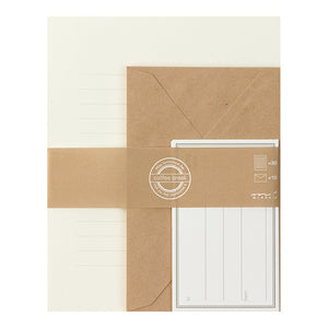 Midori Letter Writing Set - White and Kraft