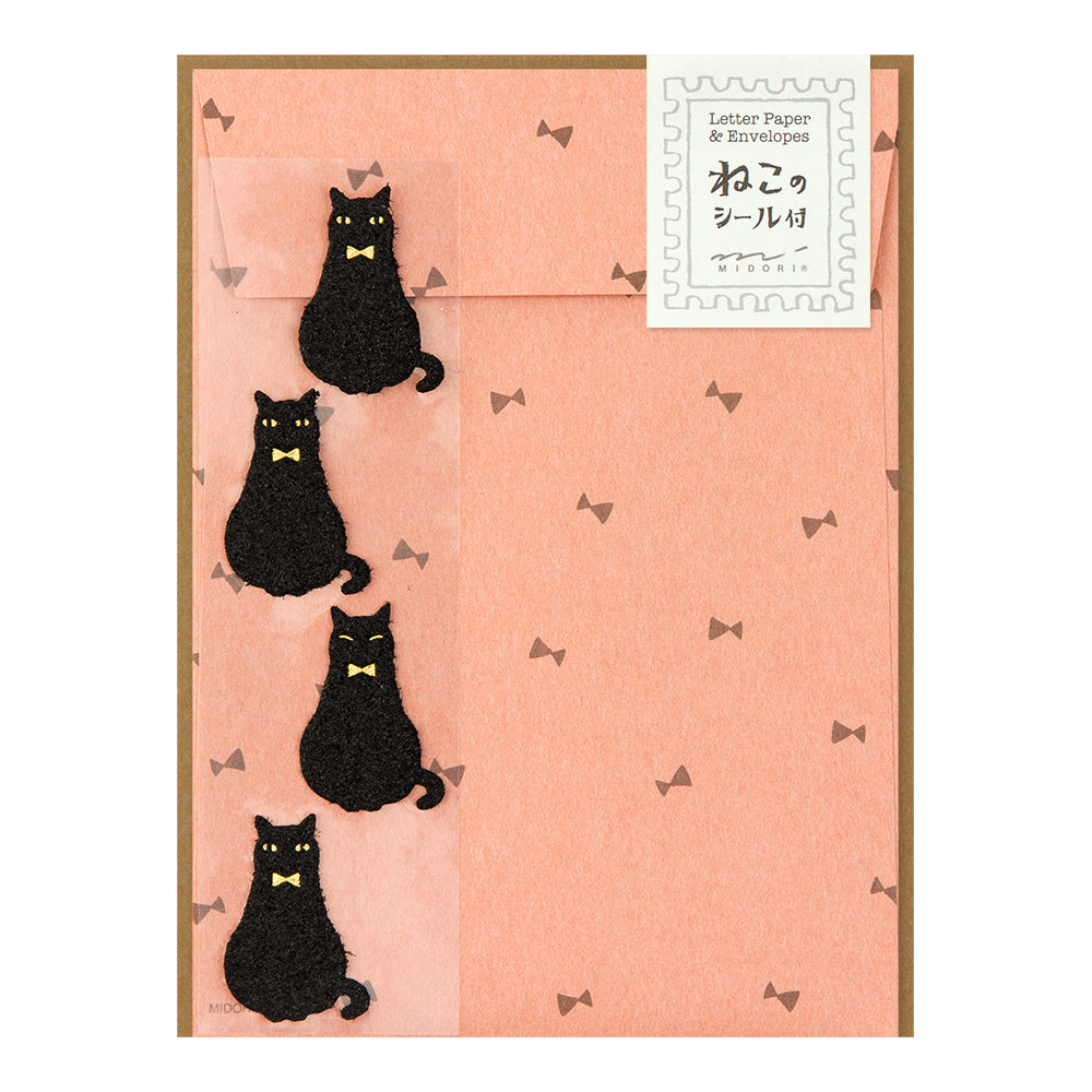 Midori Letter Writing Set -  Letter 413 Black Cat