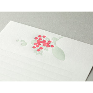 Midori Letter Writing Set -  Letter Set 460 Press Bouquet Red