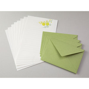 Midori Letter Writing Set -  Letter Set 461 Press Bouquet Yellow
