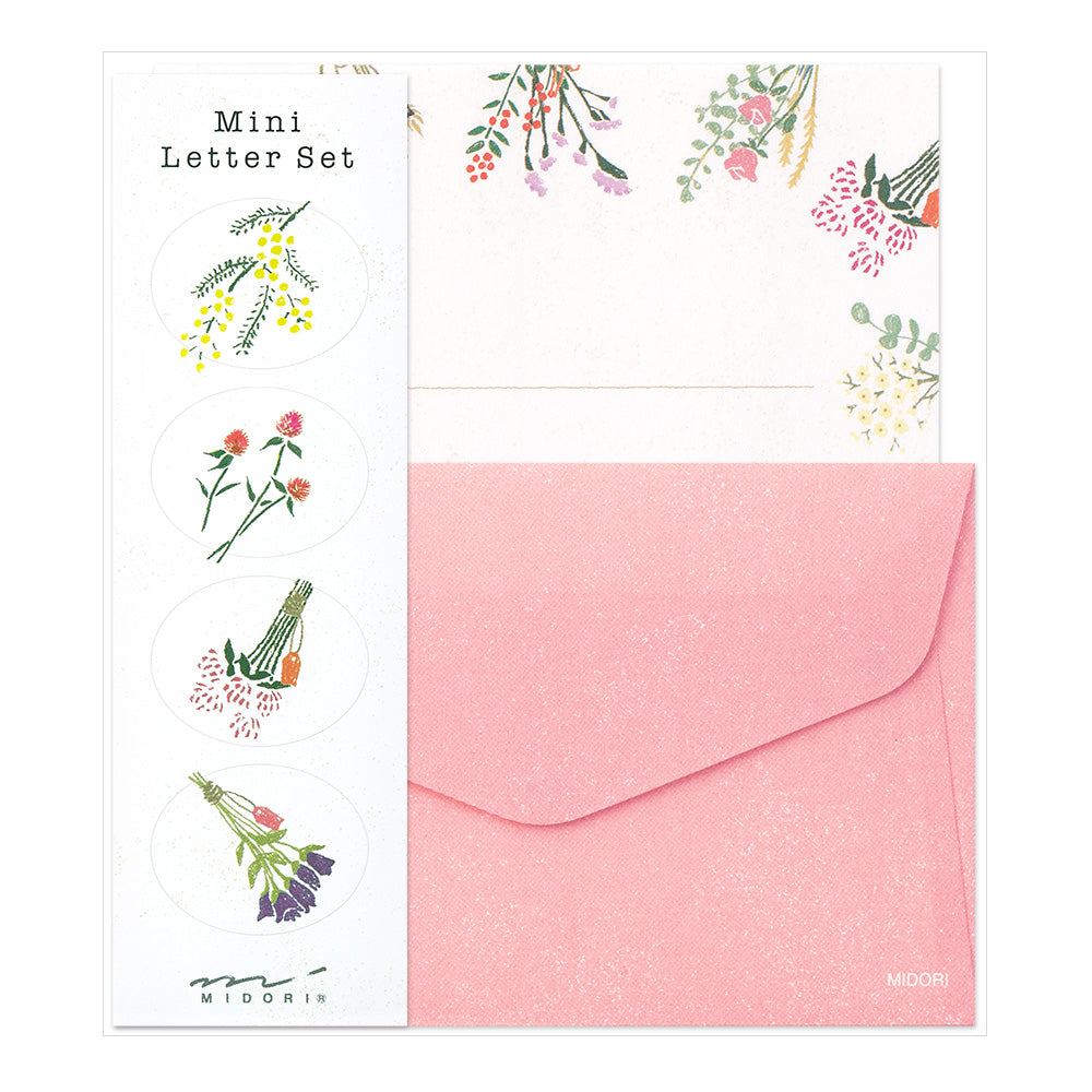 Midori Mini Letter Writing Set -  Dried Flower