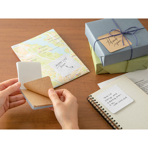 Midori 3 Types of Paper Sticky Notes - Plain (Kraft)
