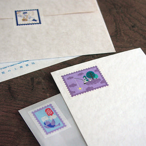 Washi Tape - Kyupodo Postage Stamp Design 01 - Angel Mail Carrier