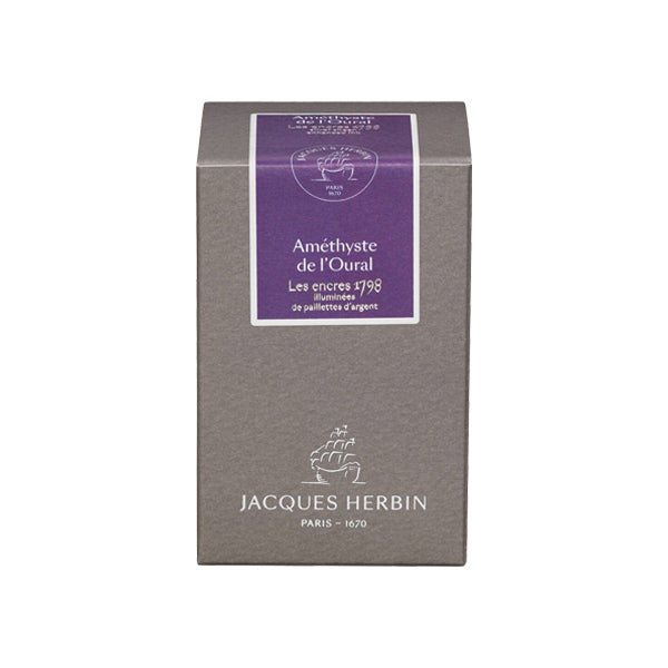 J. Herbin Fountain Pen Ink - 1798 Collection 50 ml Bottle - Amethyste de l'Oural