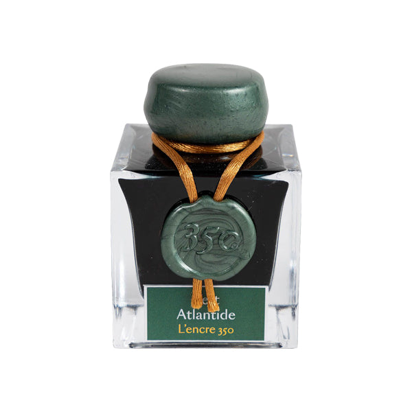 J. Herbin Fountain Pen Ink - 350th Anniversary 50 ml Bottle - Vert Atlantide