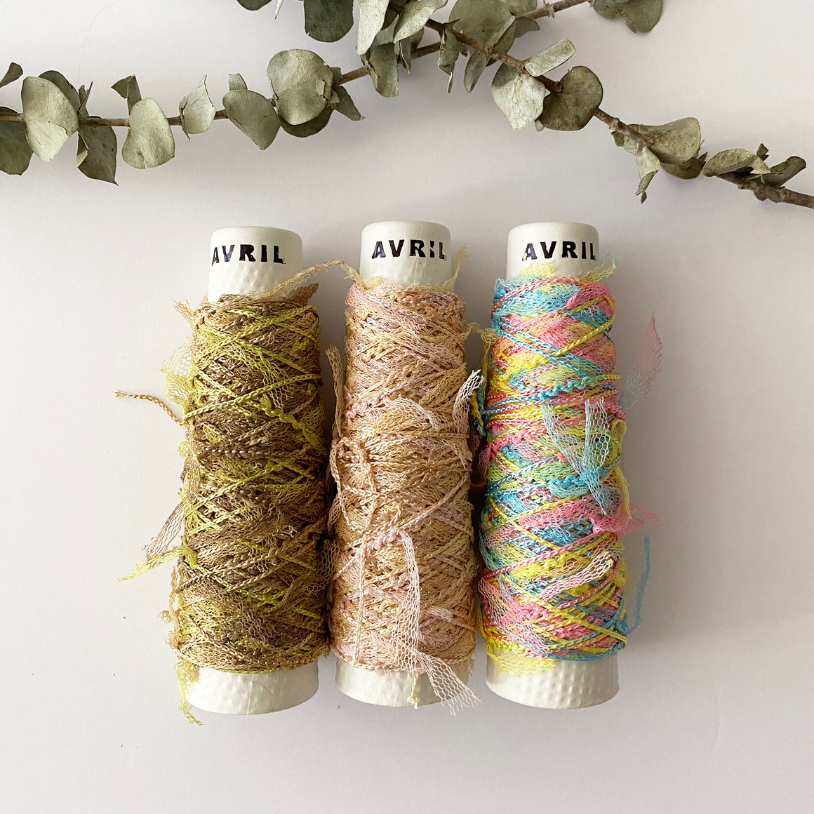 Avril Yarn Russell Ribbon Multi Color C-3942-P