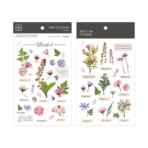 MU Print On Sticker Transfer - Violet Pink Flowers - BPOP-001104