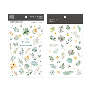 MU Print On Sticker Transfer - Green Foliage - BPOP-001123