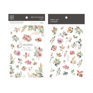 MU Print On Sticker Transfer - Early Autumn Flowers and Fruits - BPOP-001142