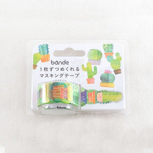 BANDE Cactus BDA 291 Washi Paper Sticker Roll