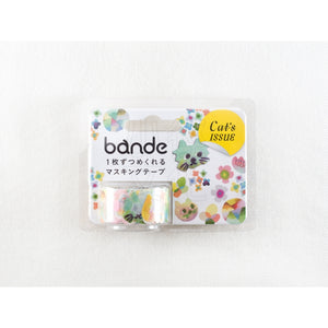 BANDE Cats and Flowers BDA 278 Washi Paper Sticker Roll