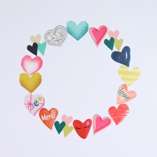 BANDE Love Hearts BDA 313 Washi Paper Sticker Roll