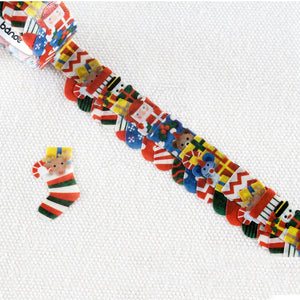 BANDE Christmas Socks BDA 328 Washi Paper Sticker Roll