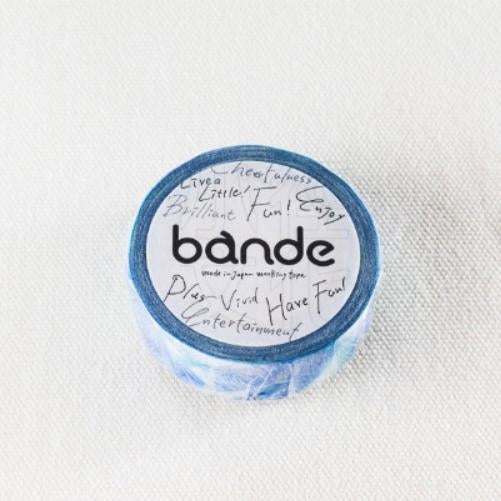 BANDE Blue Feather Washi Tape