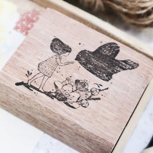 Black Milk Project Rubber Stamp - Birds (Charm)