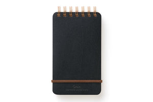Midori Grain Spiral Ring Reporter Style Notepad in Black