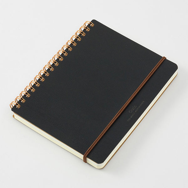 Midori Grain Spiral Ring B6 Notebook in Black