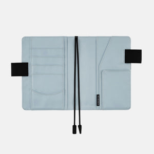 2021 Hobonichi Techo A5 Cover - Colors Black x Pale Blue