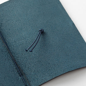Traveler's Notebook Blue - Passport Size - Leather Journal Notebook Kit