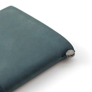 Traveler's Notebook Blue - Regular Size - Leather Journal Notebook Kit