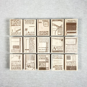 Chamil Garden Wood Rubber Stamps - Book Collection