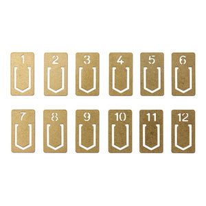 TRAVELER'S FACTORY Brass clip number (4308 0006)