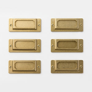 TRAVELER'S FACTORY Brass Label Plate (82022006)