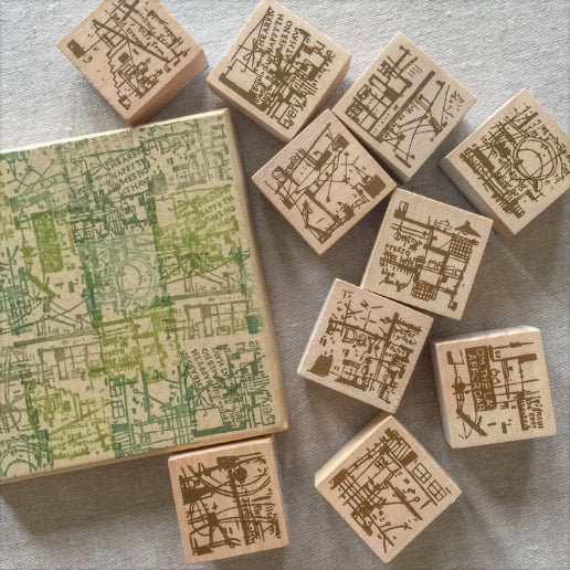 Chamil Garden Wood Rubber Stamps - Cafe Collection