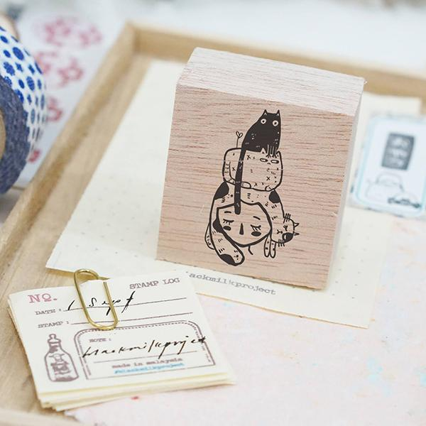 Black Milk Project Rubber Stamp -  Cat Stack