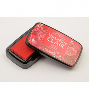 TSUKINEKO - Charm Red Glamorous (201) Quick-drying Oil-based Pigment Stamp Pad