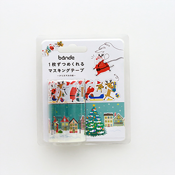 BANDE Christmas City BDA 260 Washi Paper Sticker Roll