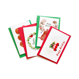 CocoBee Art Greeting 4 Card Set