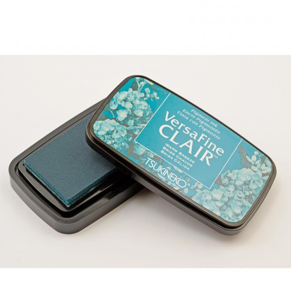 TSUKINEKO - Cool Blue Warm Breeze (603) Quick-drying Oil-based Pigment Stamp Pad