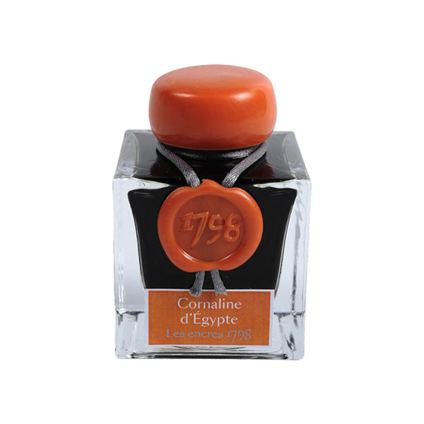 J. Herbin Fountain Pen Ink - 1798 Collection 50 ml Bottle - Carnelian Of Egypt