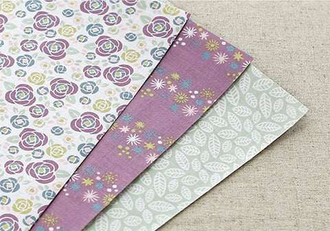 Fabric Sticker 3pk Set - Daily Like Camellia