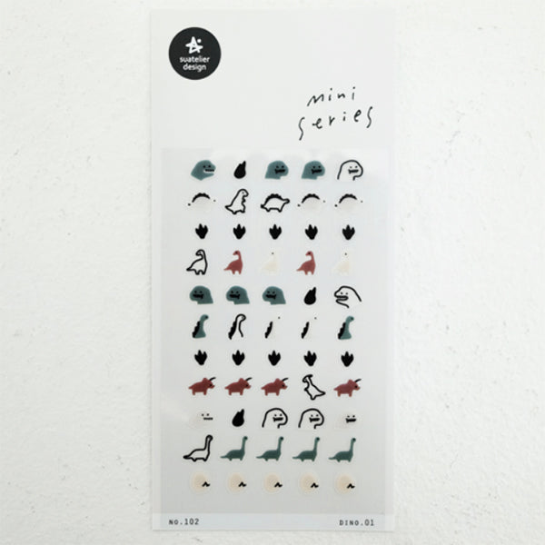 Suatelier Mini Series Stickers - 102 Dino 01