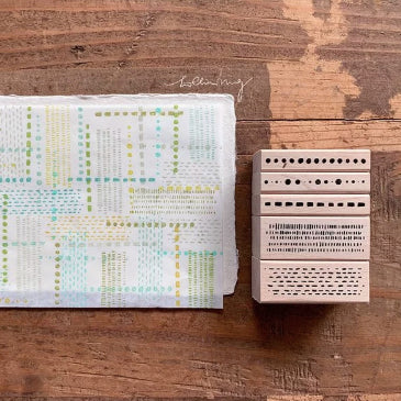 Lin Chia Ning Pre Order - Dots and Lines Stamp Set
