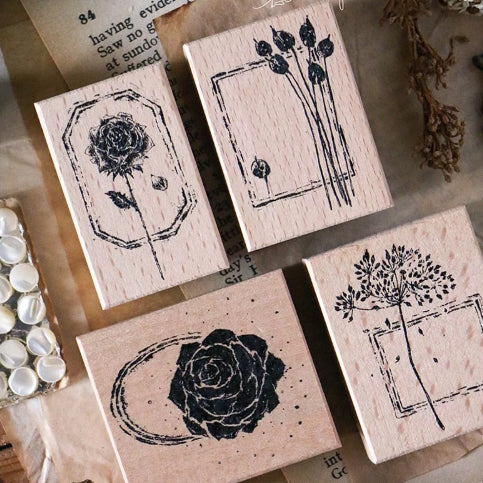 Lin Chia Ning Pre Order - Dried Flower Stamp Set F