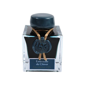 J. Herbin Fountain Pen Ink - 1670 Anniversary 50 ml Bottle - Emerald of Chivor