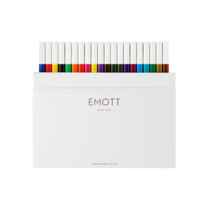 Uni EMOTT Ever Fine Fineliner Pen - 0.4mm - 40 Pen Complete Set