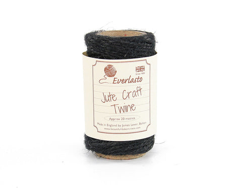 Black Jute Twine - 20m Spool from Everlasto