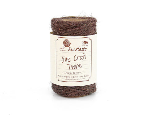 Brown Jute Twine - 20m Spool from Everlasto