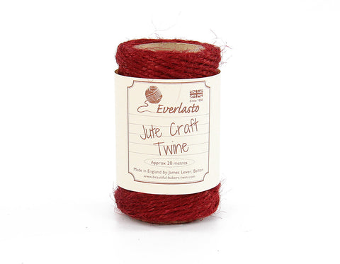 King Crimson Red Jute Twine - 20m Spool from Everlasto
