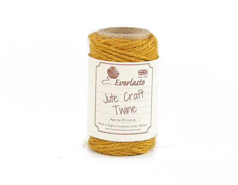 Olde Gold Yellow Jute Twine - 20m Spool from Everlasto