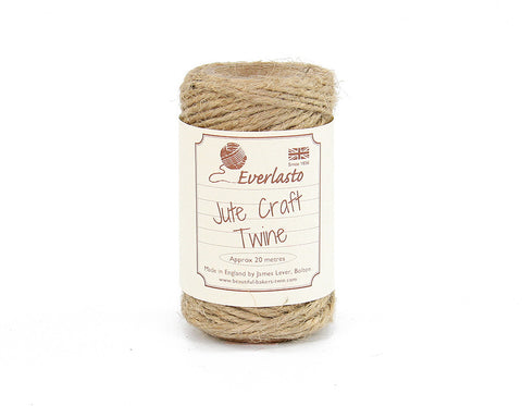 Natural Jute Twine - 20m Spool from Everlasto