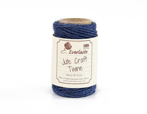 Navy Blue Jute Twine - 20m Spool from Everlasto