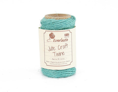Aqua Blue Jute Twine - 20m Spool from Everlasto