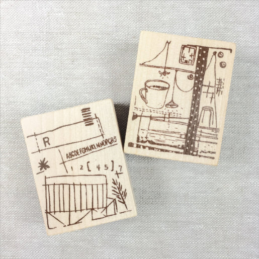 Chamil Garden Wood Rubber Stamps - First Collection