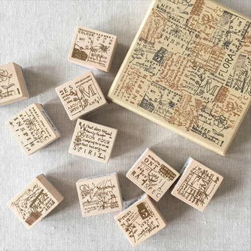 Chamil Garden Wood Rubber Stamps - Flora Collection