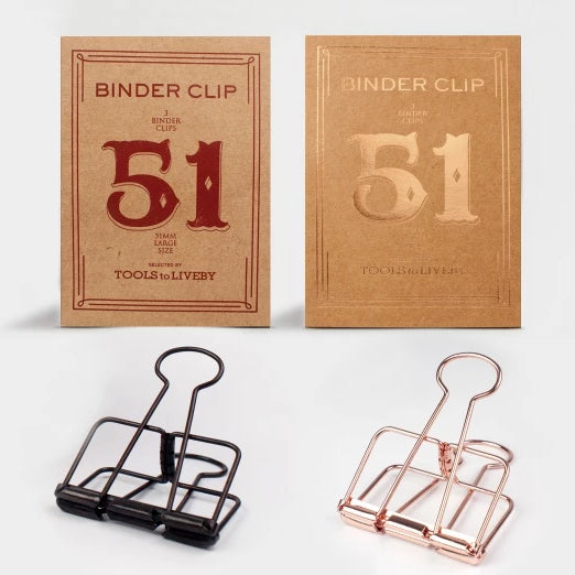 Tools to Liveby Binder Clips - Black - 51mm